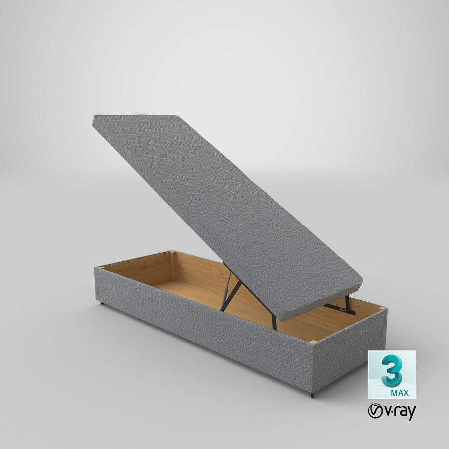 Bed Base 02 Open Grey royalty-free 3d model - Preview no. 24
