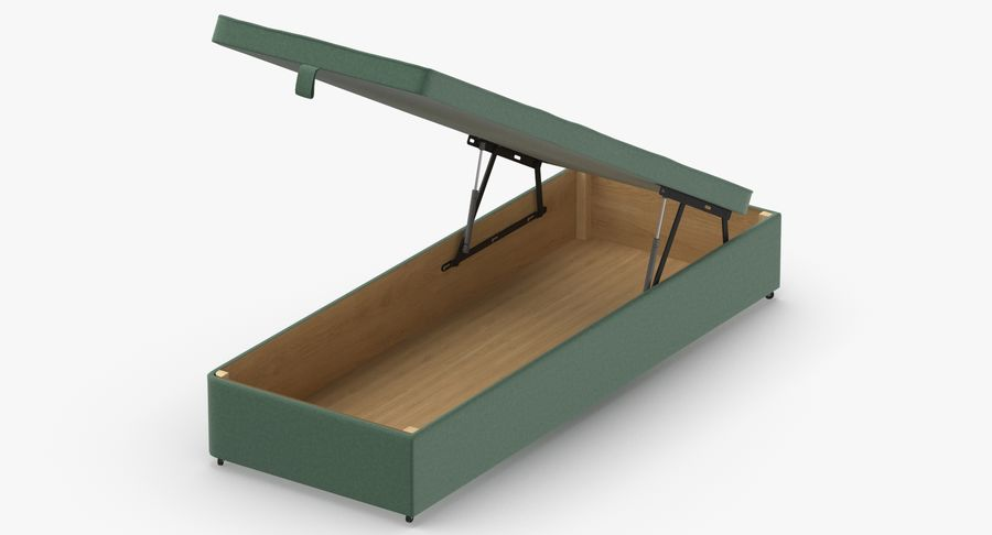 Bed Base 02 Open Mint royalty-free 3d model - Preview no. 3