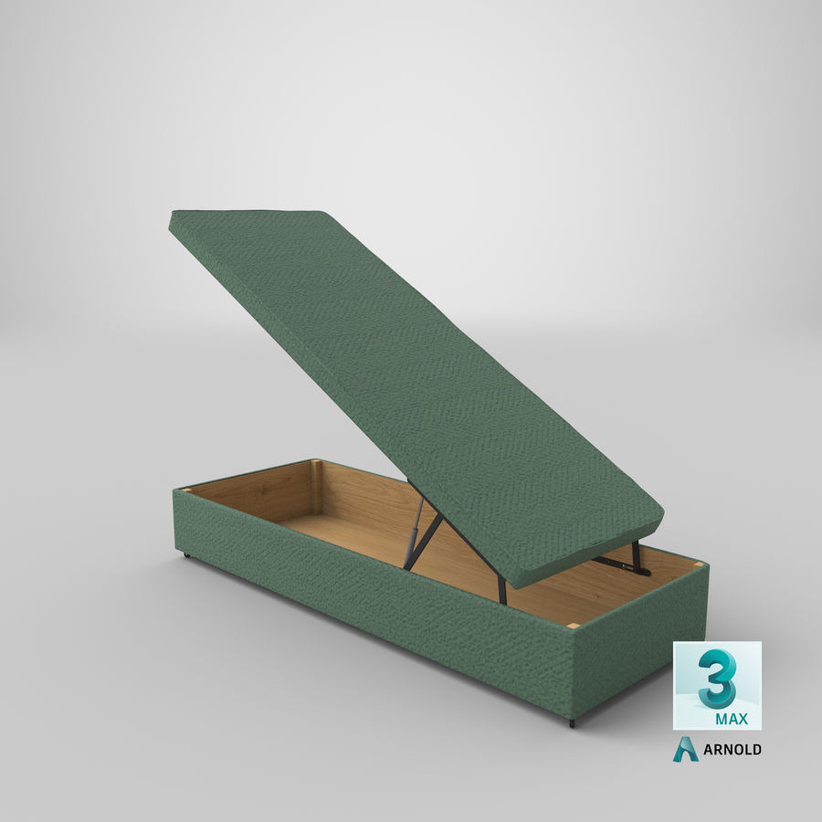Bed Base 02 Open Mint royalty-free 3d model - Preview no. 22