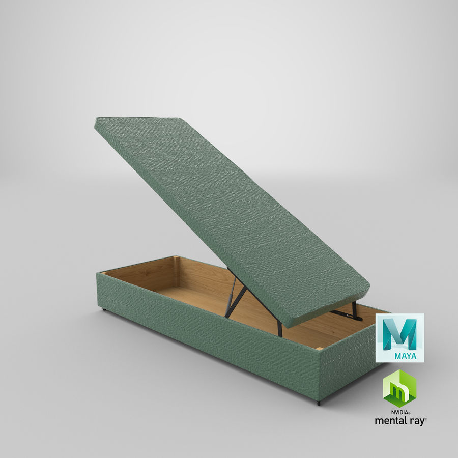 Bed Base 02 Open Mint royalty-free 3d model - Preview no. 26
