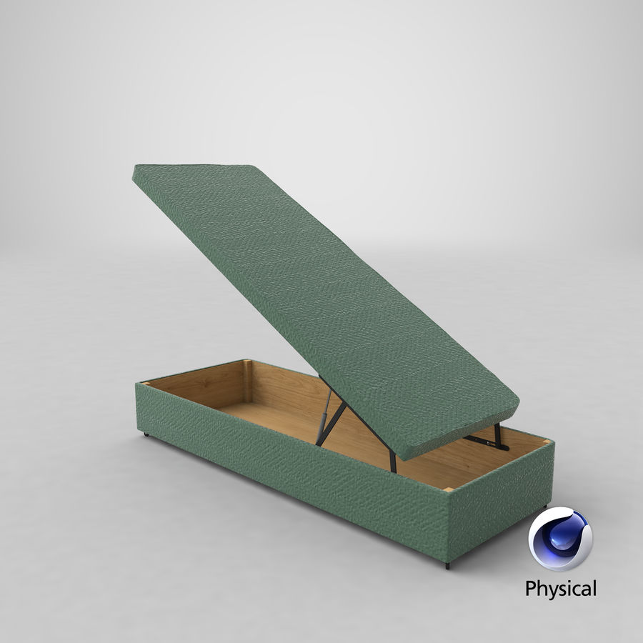 Bed Base 02 Open Mint royalty-free 3d model - Preview no. 20