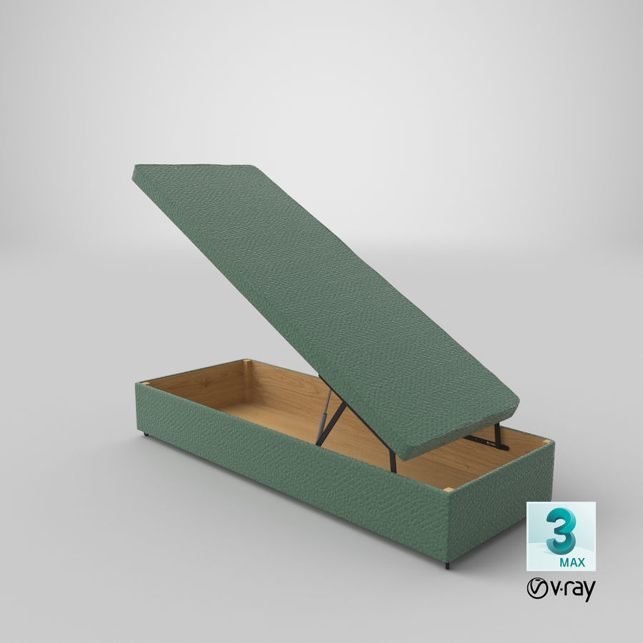 Bed Base 02 Open Mint royalty-free 3d model - Preview no. 24