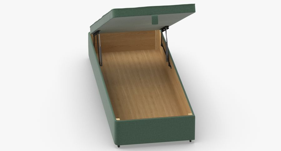 Bed Base 02 Open Mint royalty-free 3d model - Preview no. 4