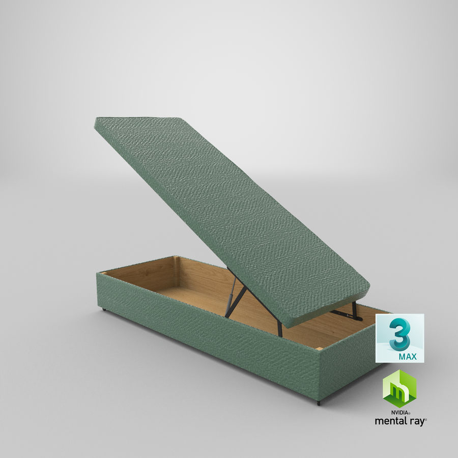 Bed Base 02 Open Mint royalty-free 3d model - Preview no. 23