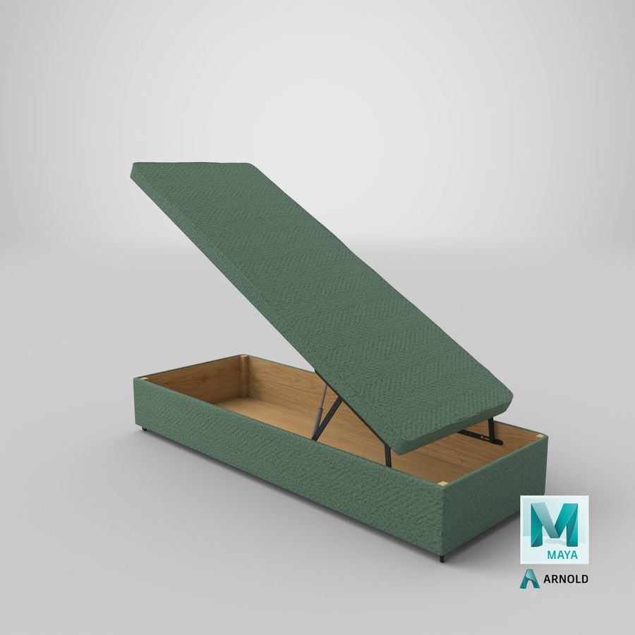 Bed Base 02 Open Mint royalty-free 3d model - Preview no. 25