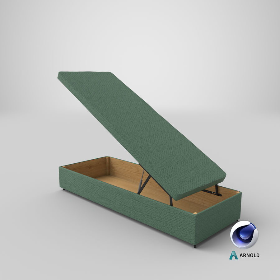 Bed Base 02 Open Mint royalty-free 3d model - Preview no. 21