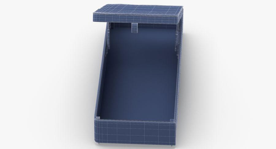 Bed Base 02 Open Mint royalty-free 3d model - Preview no. 15