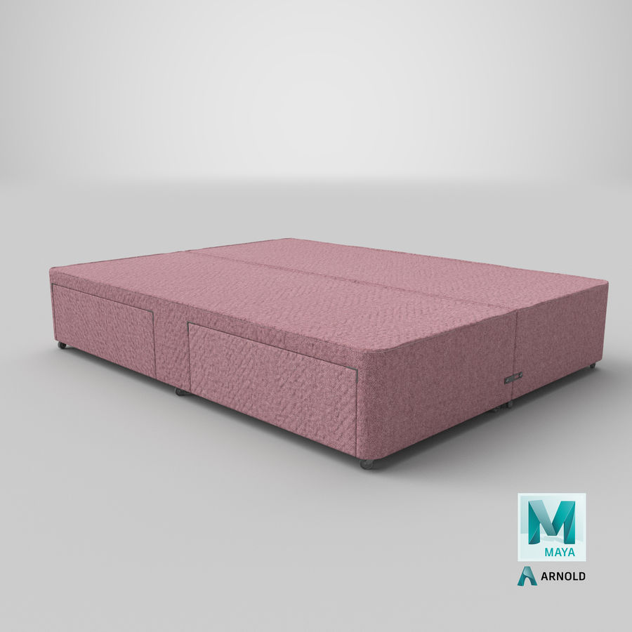 Bed Base 03 Blush royalty-free 3d model - Preview no. 26