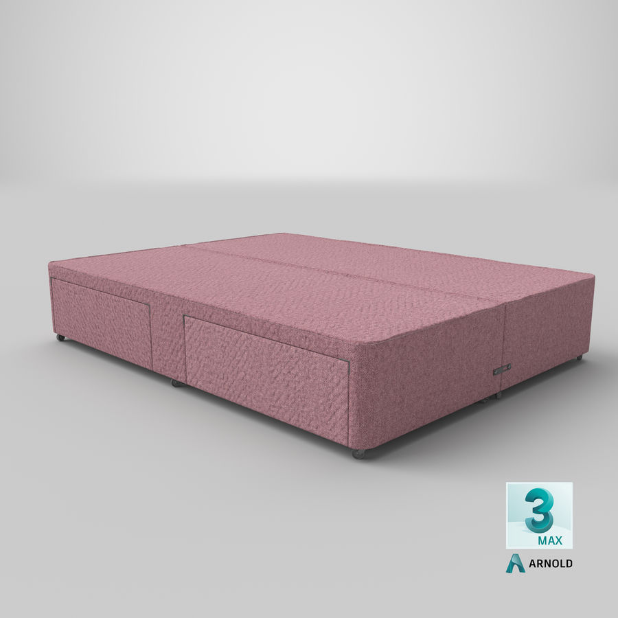 Bed Base 03 Blush royalty-free 3d model - Preview no. 23