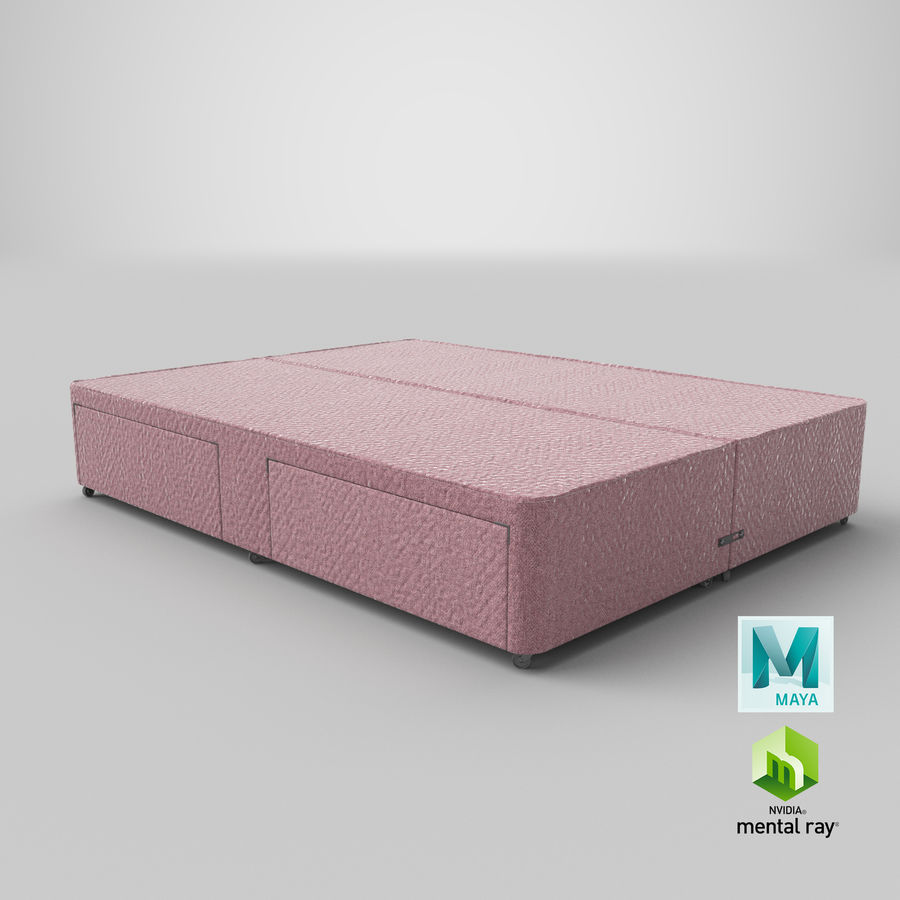 Bed Base 03 Blush royalty-free 3d model - Preview no. 27