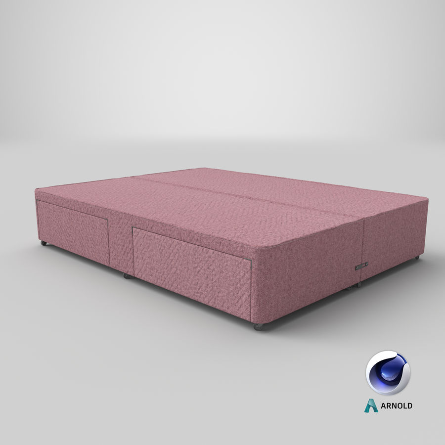 Bed Base 03 Blush royalty-free 3d model - Preview no. 22