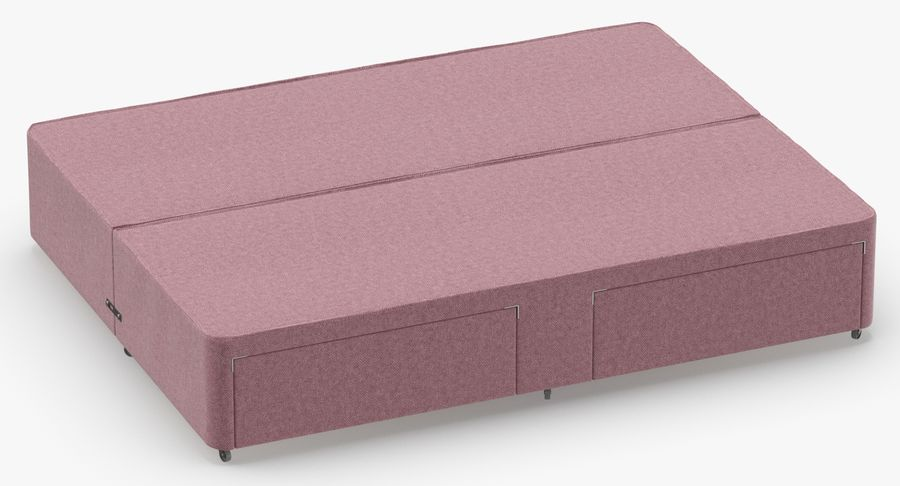 Bed Base 03 Blush royalty-free 3d model - Preview no. 3