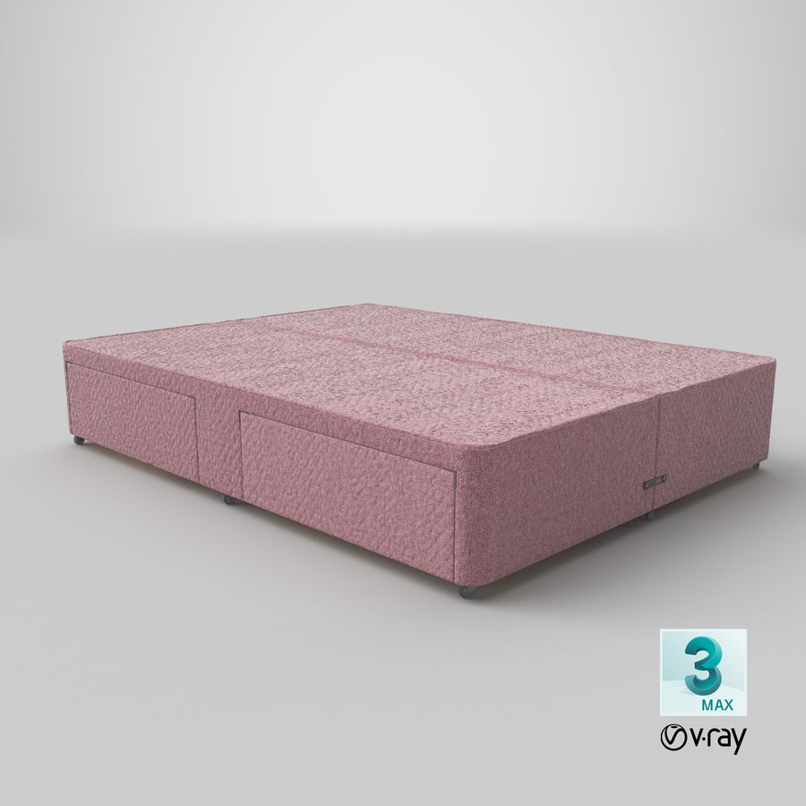Bed Base 03 Blush royalty-free 3d model - Preview no. 25