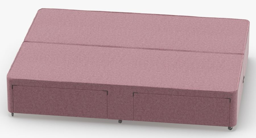 Bed Base 03 Blush royalty-free 3d model - Preview no. 5