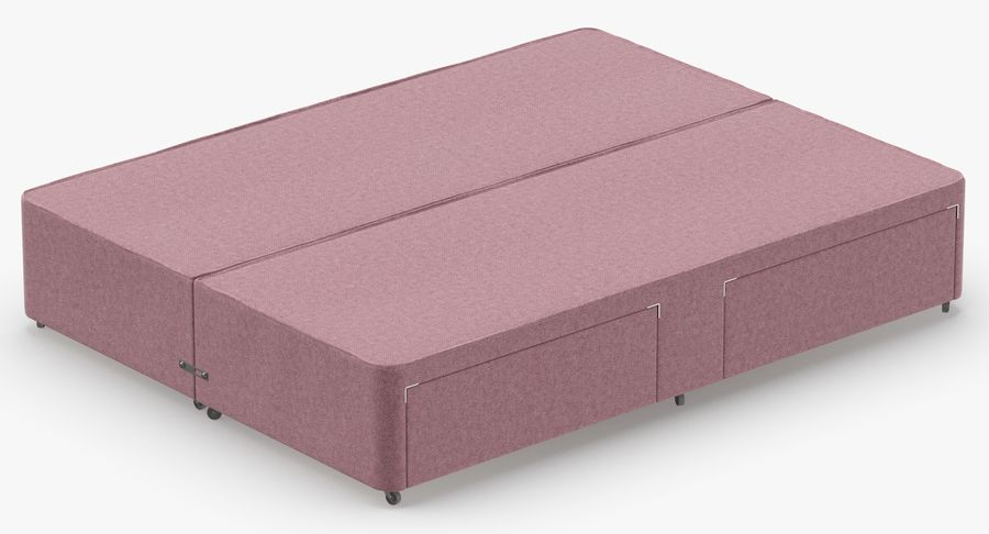 Bed Base 03 Blush royalty-free 3d model - Preview no. 6