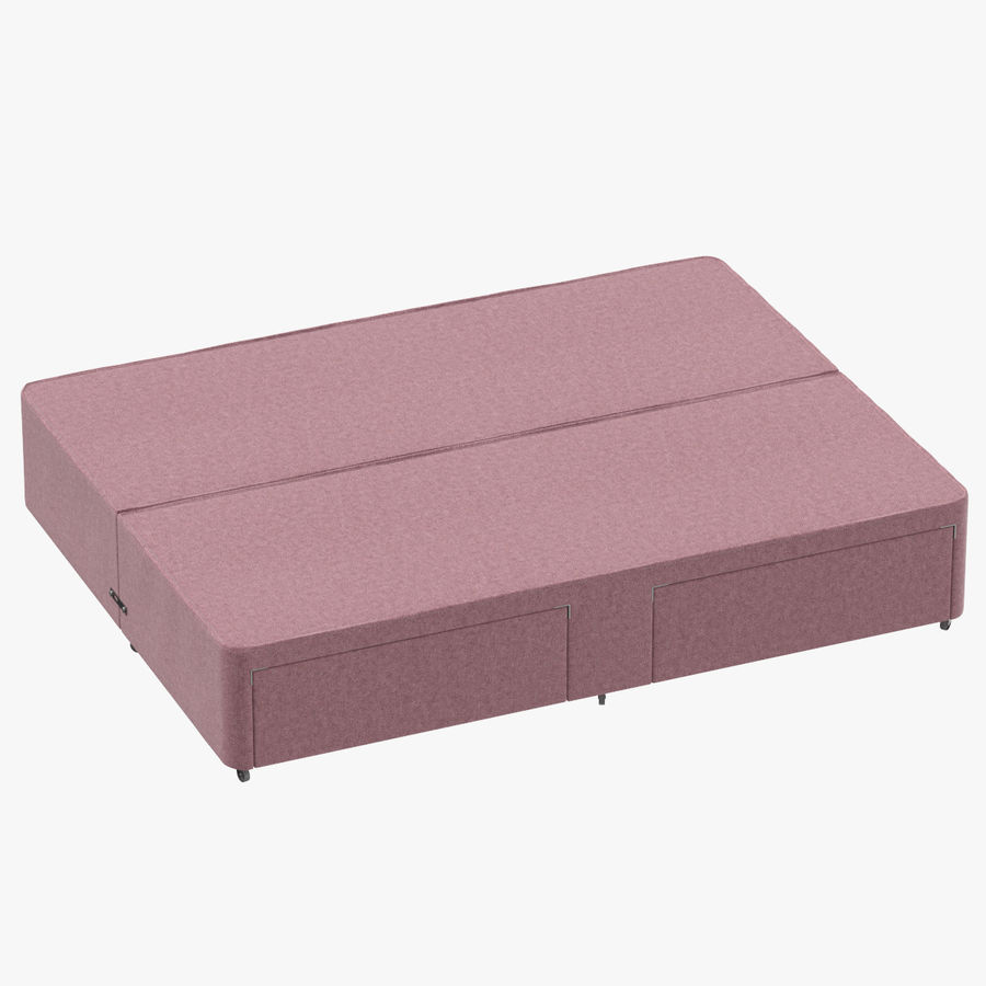 Bed Base 03 Blush royalty-free 3d model - Preview no. 1