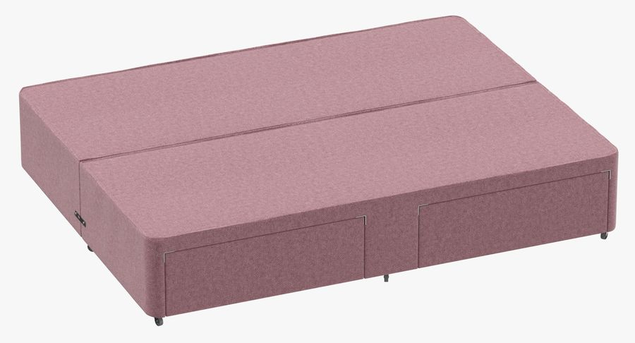 Bed Base 03 Blush royalty-free 3d model - Preview no. 2