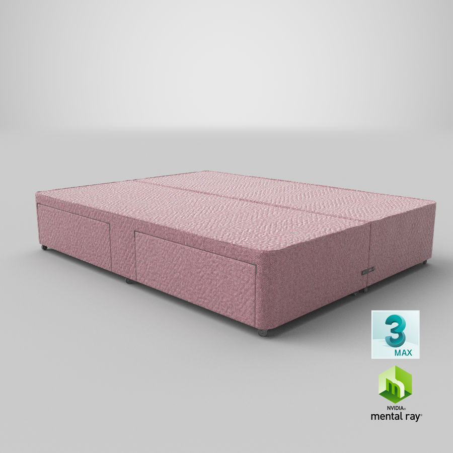 Bed Base 03 Blush royalty-free 3d model - Preview no. 24