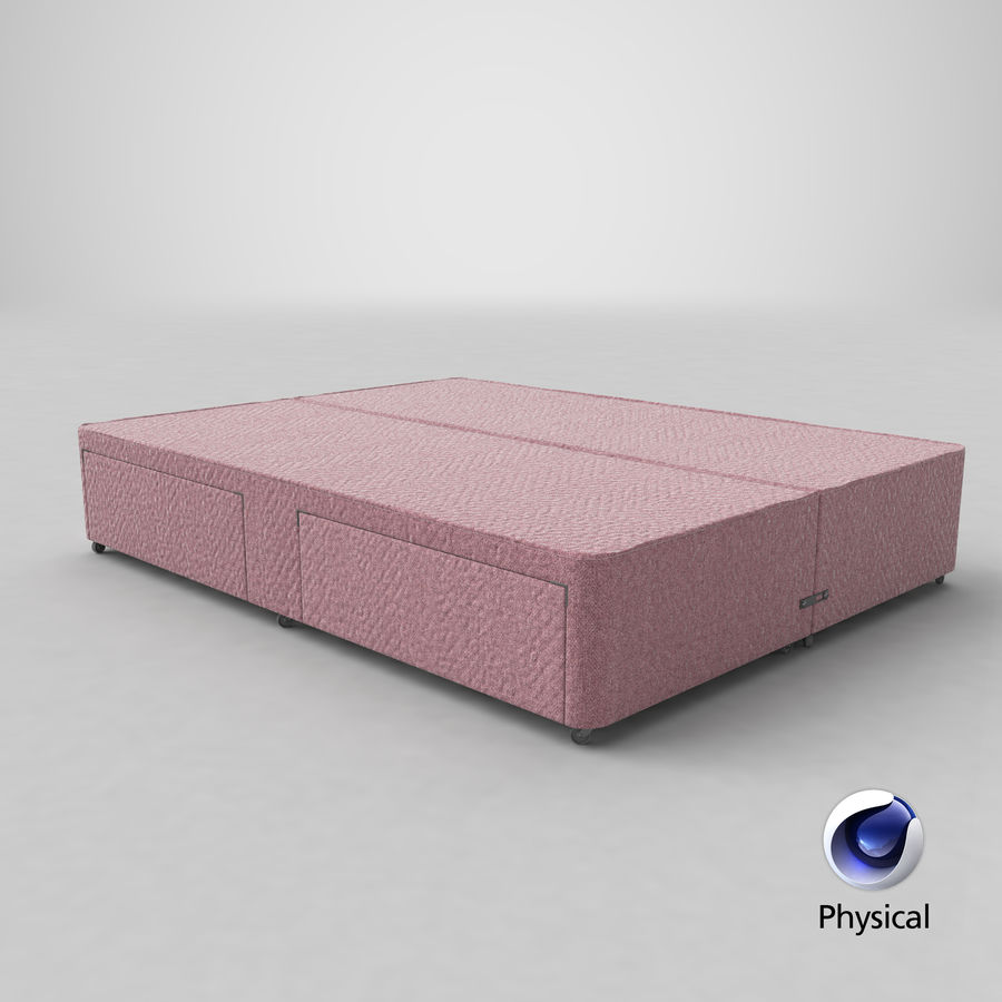 Bed Base 03 Blush royalty-free 3d model - Preview no. 21