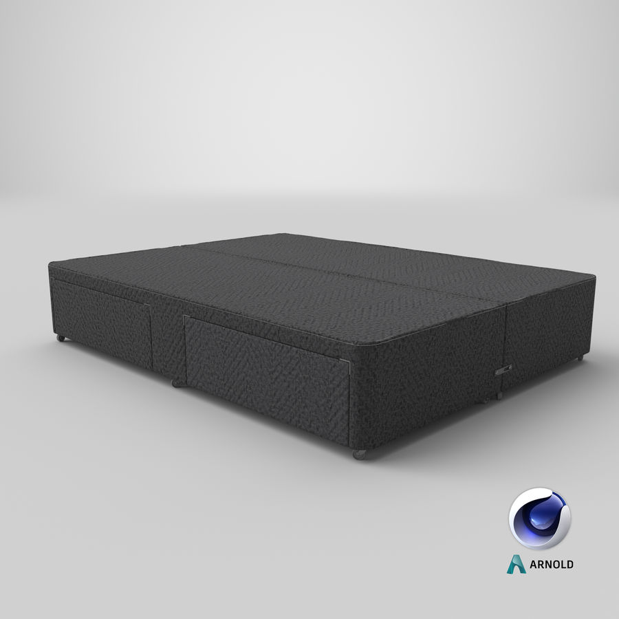 Bed Base 03 Charcoal royalty-free 3d model - Preview no. 22