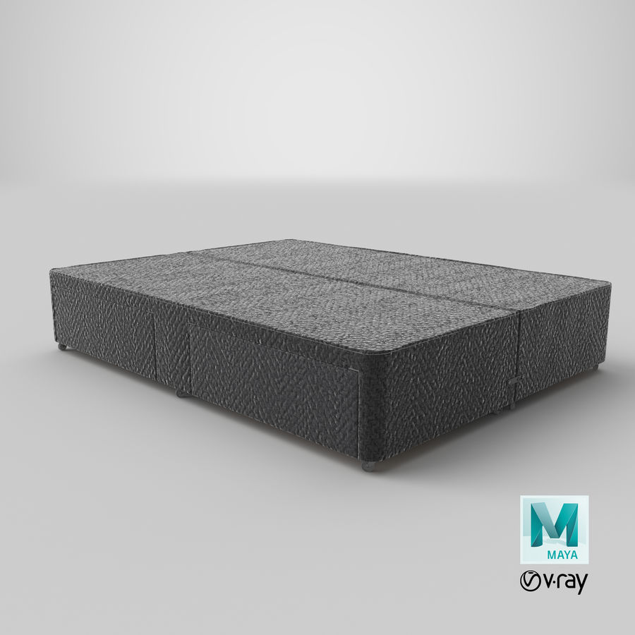 Bed Base 03 Charcoal royalty-free 3d model - Preview no. 28