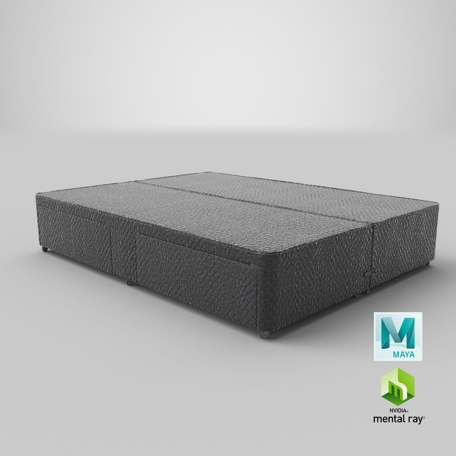 Bed Base 03 Charcoal royalty-free 3d model - Preview no. 27