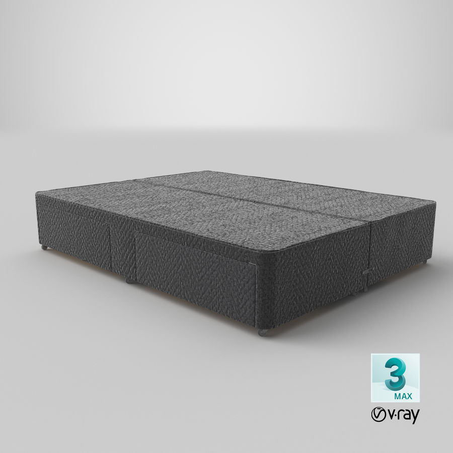 Bed Base 03 Charcoal royalty-free 3d model - Preview no. 25