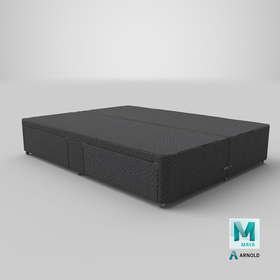Bed Base 03 Charcoal royalty-free 3d model - Preview no. 26