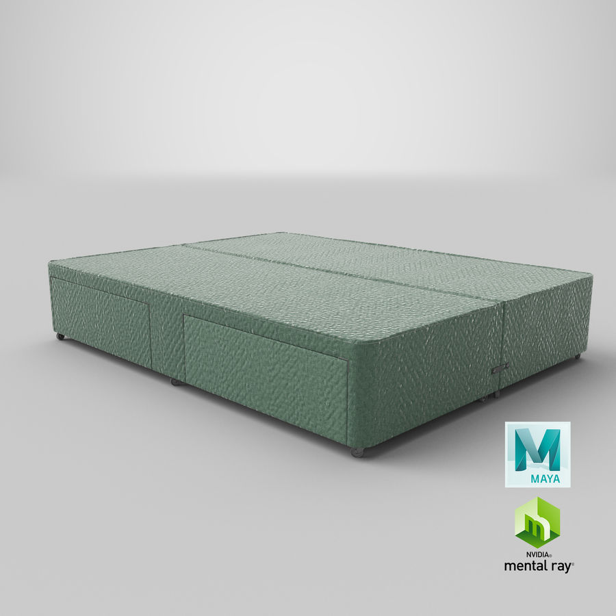 Bed Base 03 Mint royalty-free 3d model - Preview no. 27