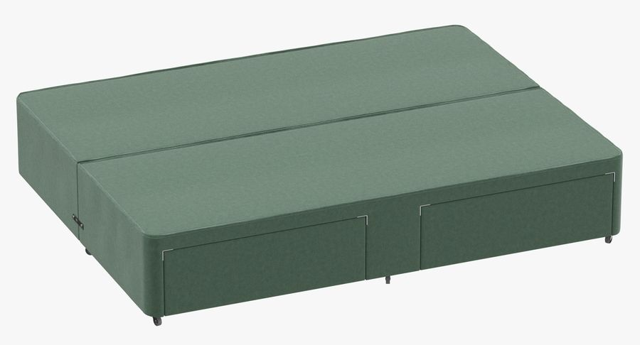 Bed Base 03 Mint royalty-free 3d model - Preview no. 2