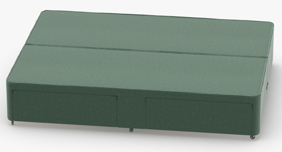 Bed Base 03 Mint royalty-free 3d model - Preview no. 5