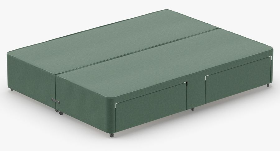 Bed Base 03 Mint royalty-free 3d model - Preview no. 6