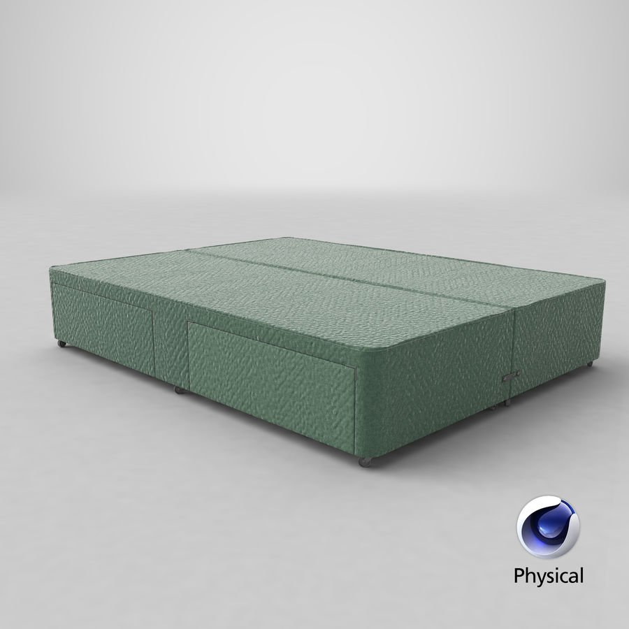 Bed Base 03 Mint royalty-free 3d model - Preview no. 21
