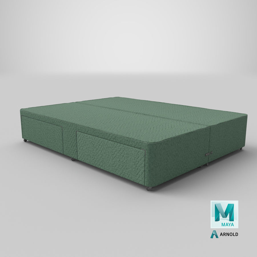 Bed Base 03 Mint royalty-free 3d model - Preview no. 26