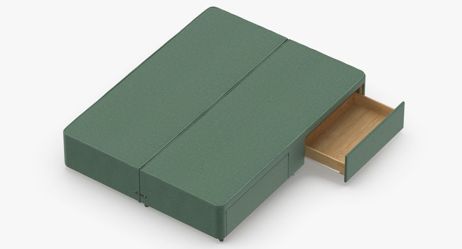 Bed Base 03 Mint royalty-free 3d model - Preview no. 7