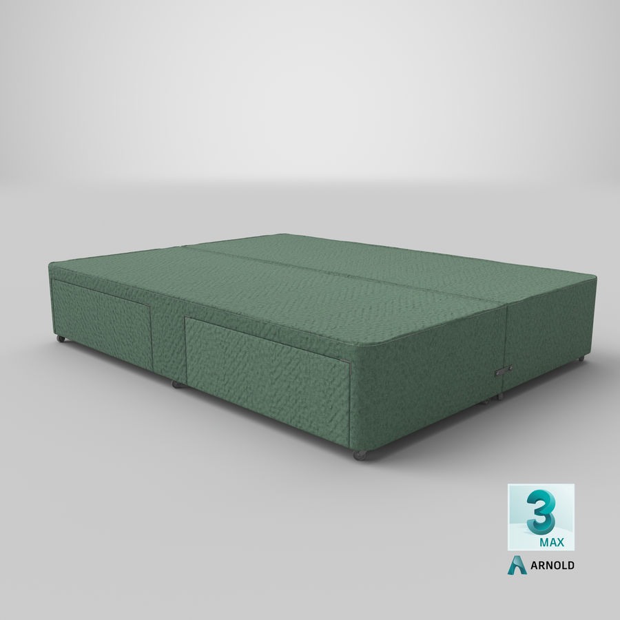 Bed Base 03 Mint royalty-free 3d model - Preview no. 23