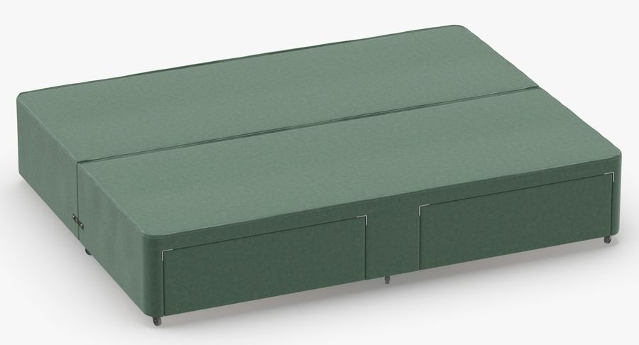 Bed Base 03 Mint royalty-free 3d model - Preview no. 3