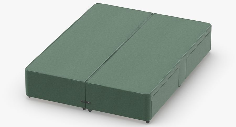 Bed Base 03 Mint royalty-free 3d model - Preview no. 4