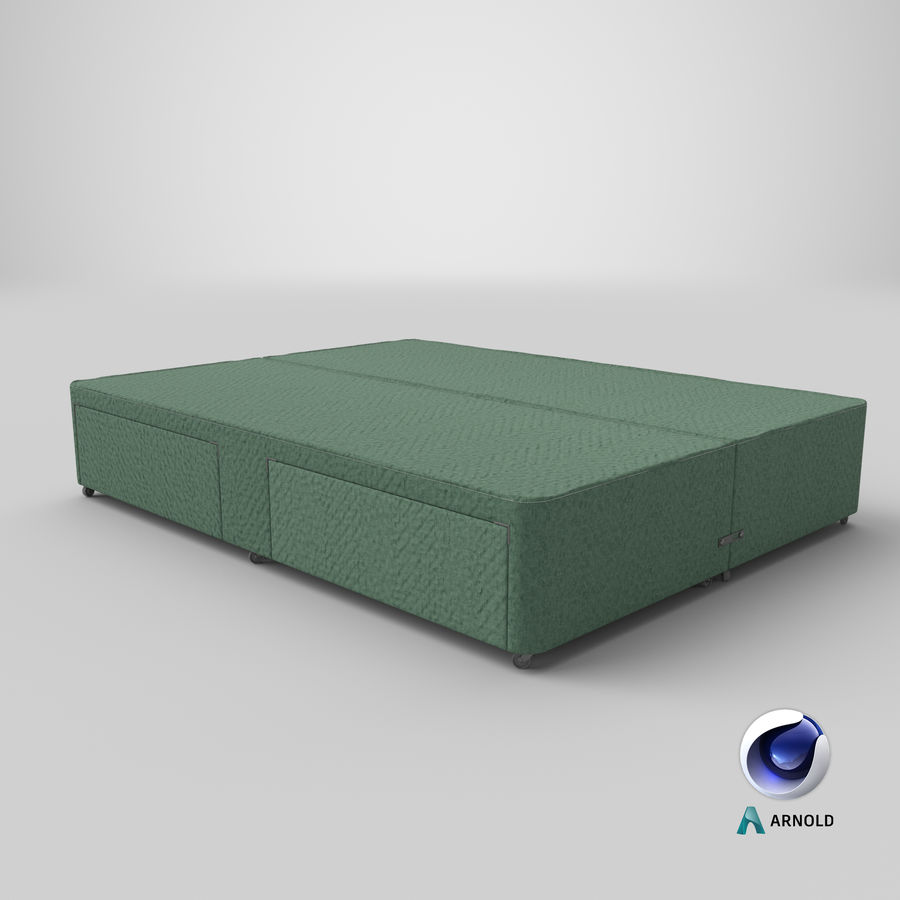 Bed Base 03 Mint royalty-free 3d model - Preview no. 22