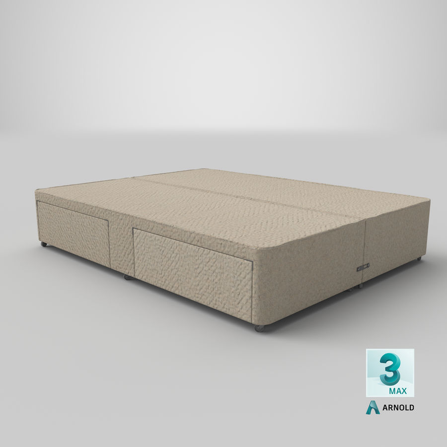 Bed Base 03 Oatmeal royalty-free 3d model - Preview no. 23