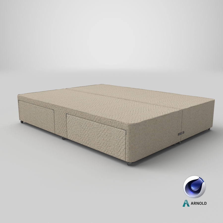 Bed Base 03 Oatmeal royalty-free 3d model - Preview no. 22