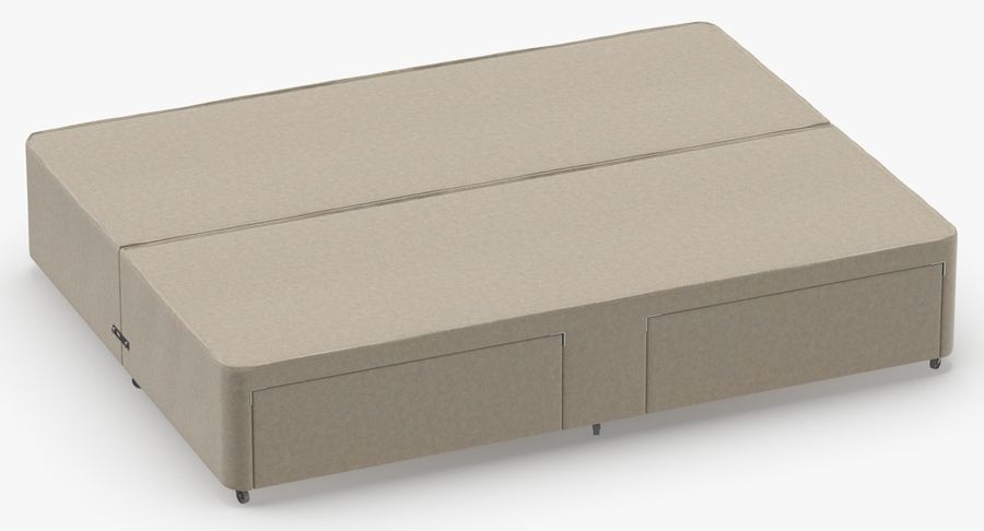 Bed Base 03 Oatmeal royalty-free 3d model - Preview no. 3