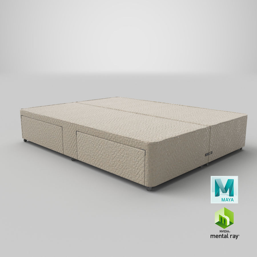 Bed Base 03 Oatmeal royalty-free 3d model - Preview no. 27