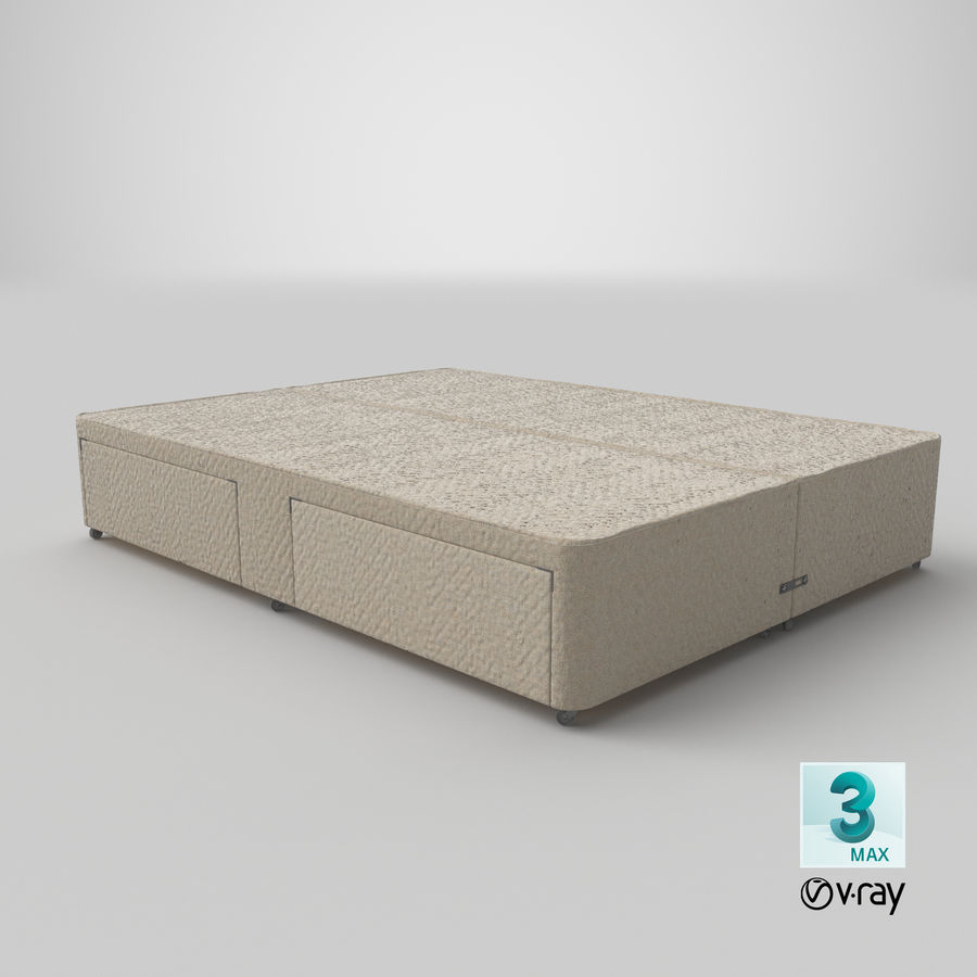 Bed Base 03 Oatmeal royalty-free 3d model - Preview no. 25