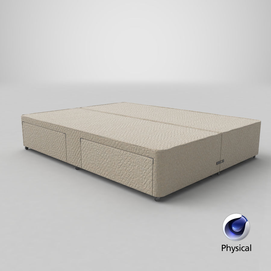 Bed Base 03 Oatmeal royalty-free 3d model - Preview no. 21
