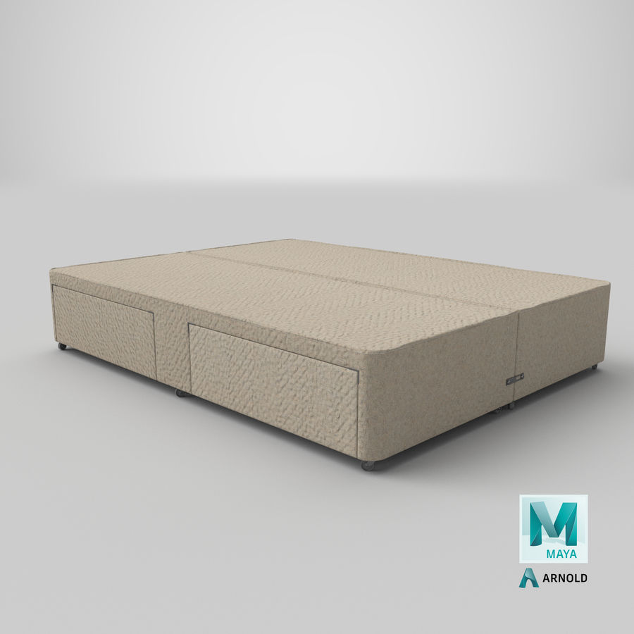 Bed Base 03 Oatmeal royalty-free 3d model - Preview no. 26