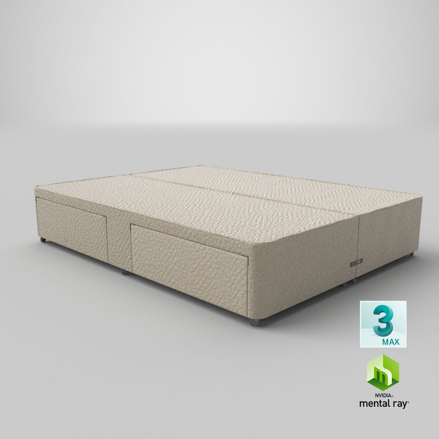 Bed Base 03 Oatmeal royalty-free 3d model - Preview no. 24