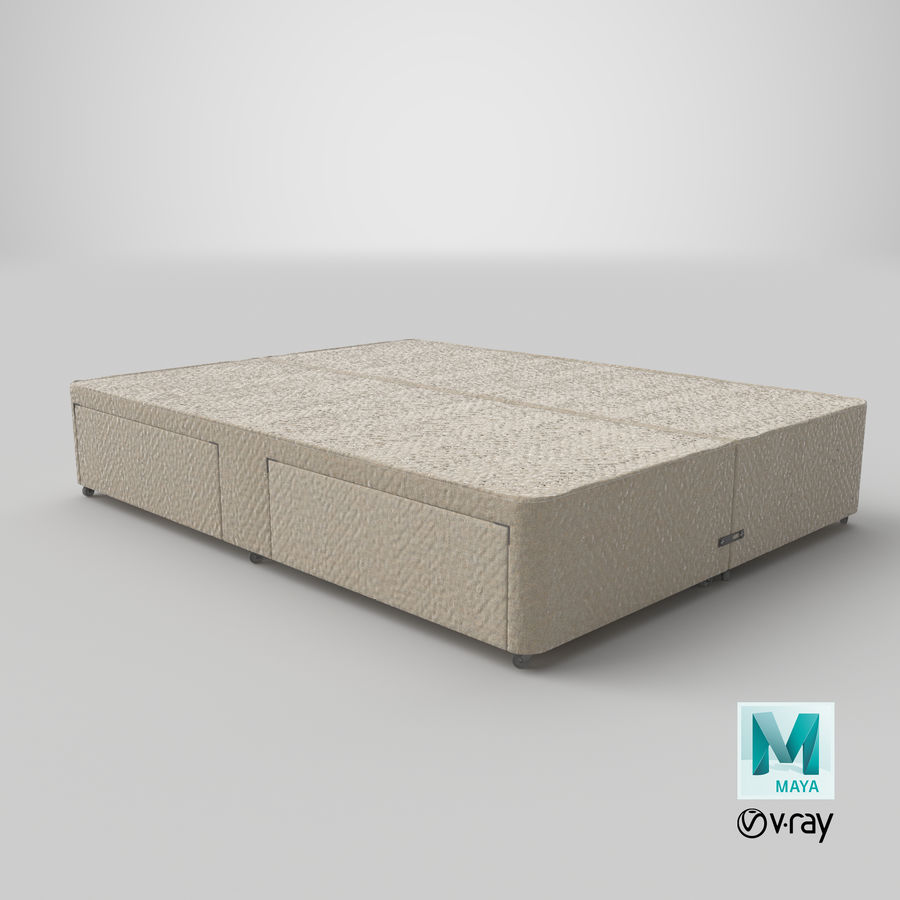 Bed Base 03 Oatmeal royalty-free 3d model - Preview no. 28