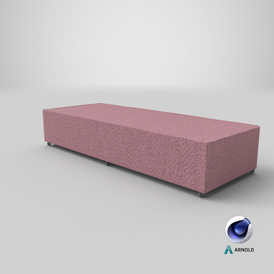 Основание кровати 04 Румяна royalty-free 3d model - Preview no. 21