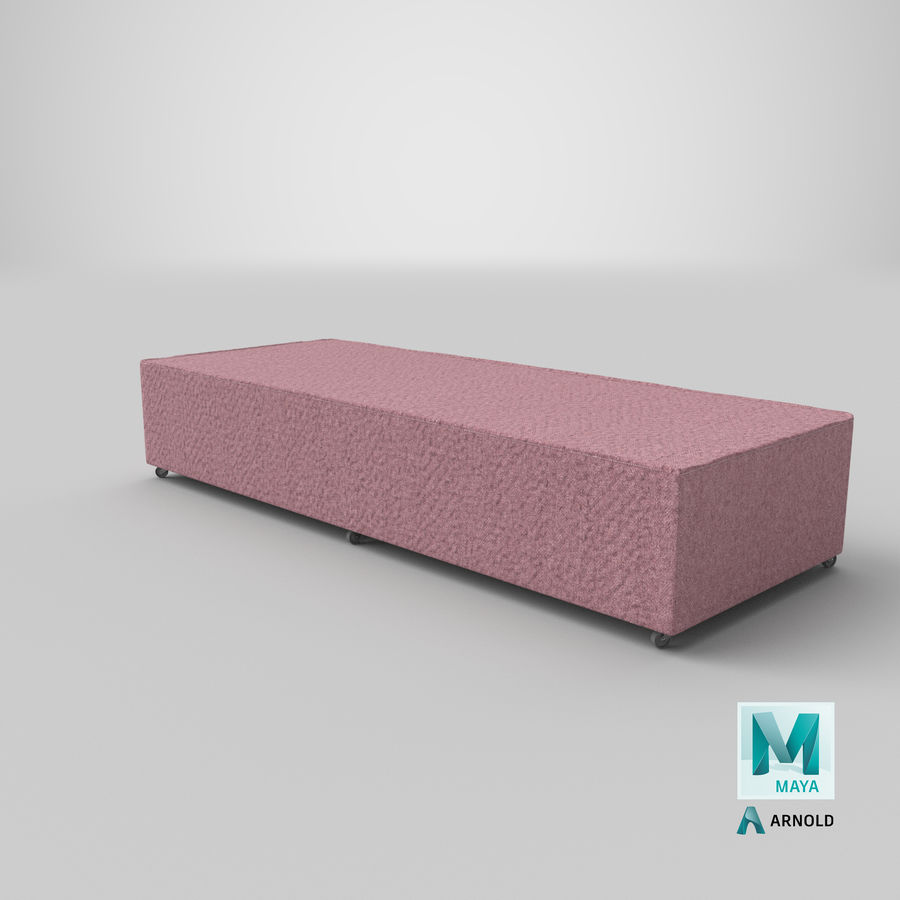 Основание кровати 04 Румяна royalty-free 3d model - Preview no. 25
